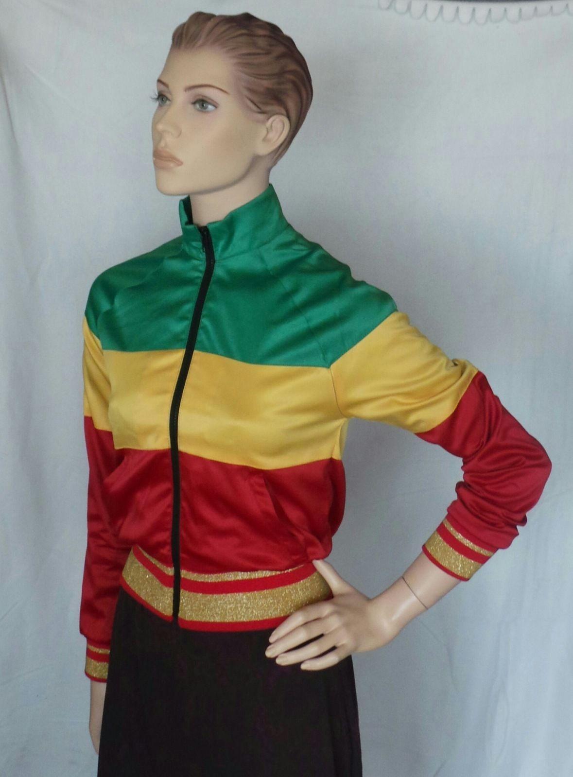 d191ed5e924 Bob Marley Tuff Gong Rasta Womens Jacket Catch A Fire Size