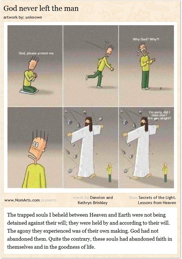 God never left the man  #quotes #God #religions