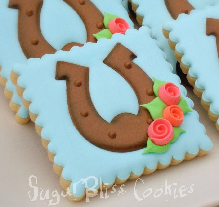 Sugarbliss Cookies Sugarbliss Horseshoes With Images Horse