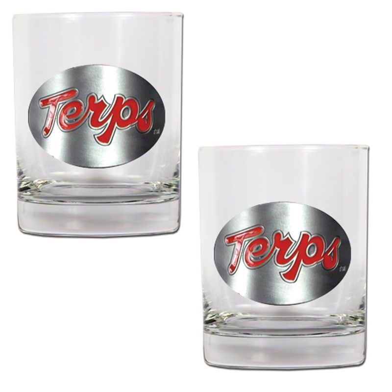 Maryland Terrapins 14oz. Rocks Glass Set