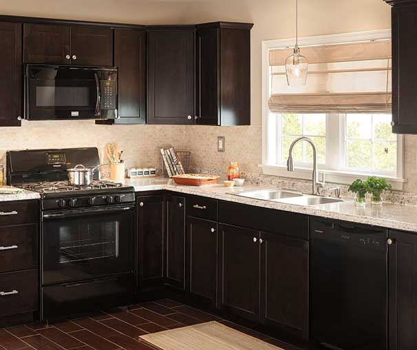 Black Kitchen Cabinets Lowes: Brookton Collection. The Dark