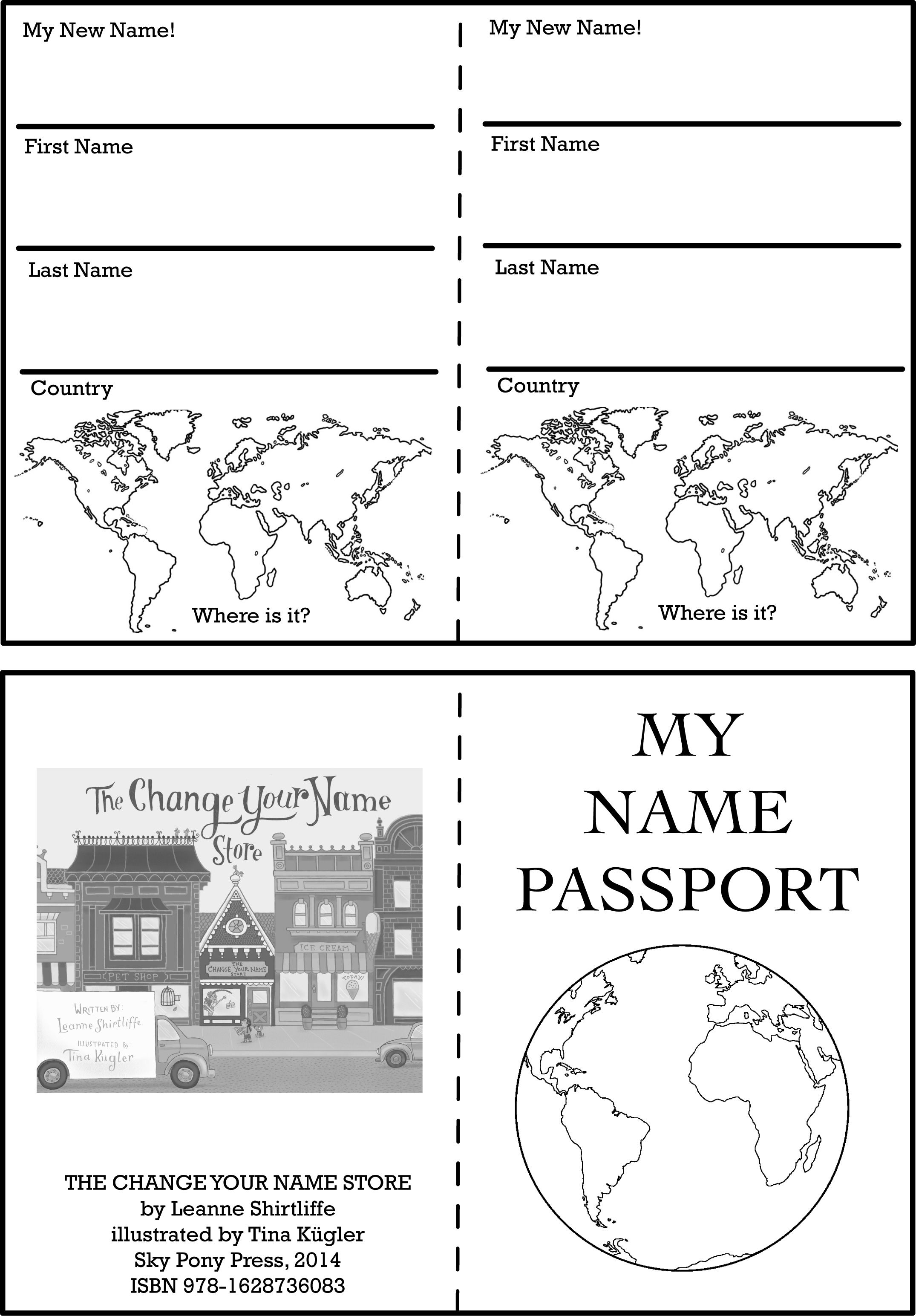 Activity Worksheets And Printables Passports For Kids Passport Template Passport