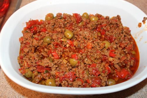 slow cooker beef picadillo. Have never tried anything like this but it ...