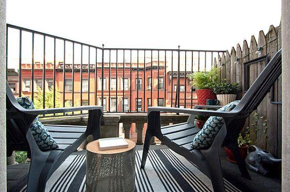 Modern New York balcony - Modern Interior Design & Furniture - Decoist