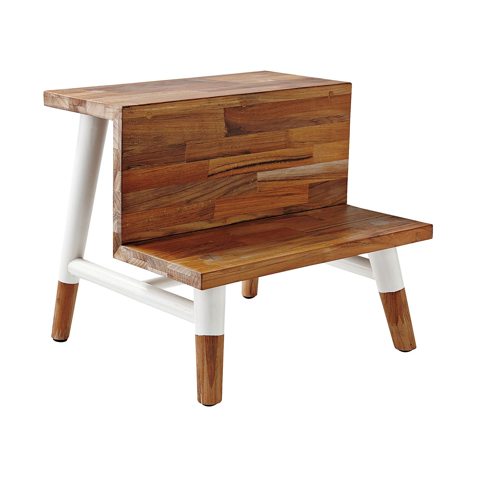 Teak Step Stool  Serena  Lily  For the Home  Bath