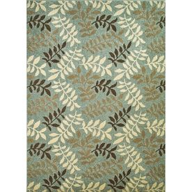 Concord Global Hampton Blue Rectangular Indoor Woven Nature Area Rug (Common: 3 X 5; Actual: 3.25-Ft W X 4.58-Ft L X 3.2