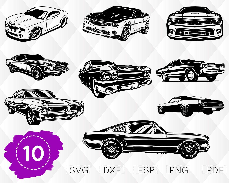 Muscle car svg camaro vector car vector chevy svg impala