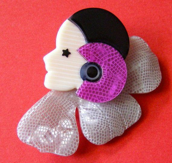 LEA STEIN - Broche PIERROT - Lea Stein  French pin - Vintage