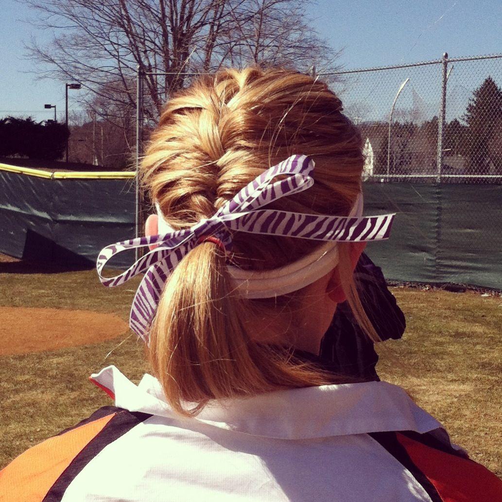 Softball Hair For Short Hair I Love It Softball Hair Softball Hairstyles Softball Hair Braids Hair Styles