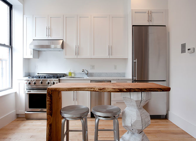 white kitchens with wood islands - Google Search | Ideas for the ...