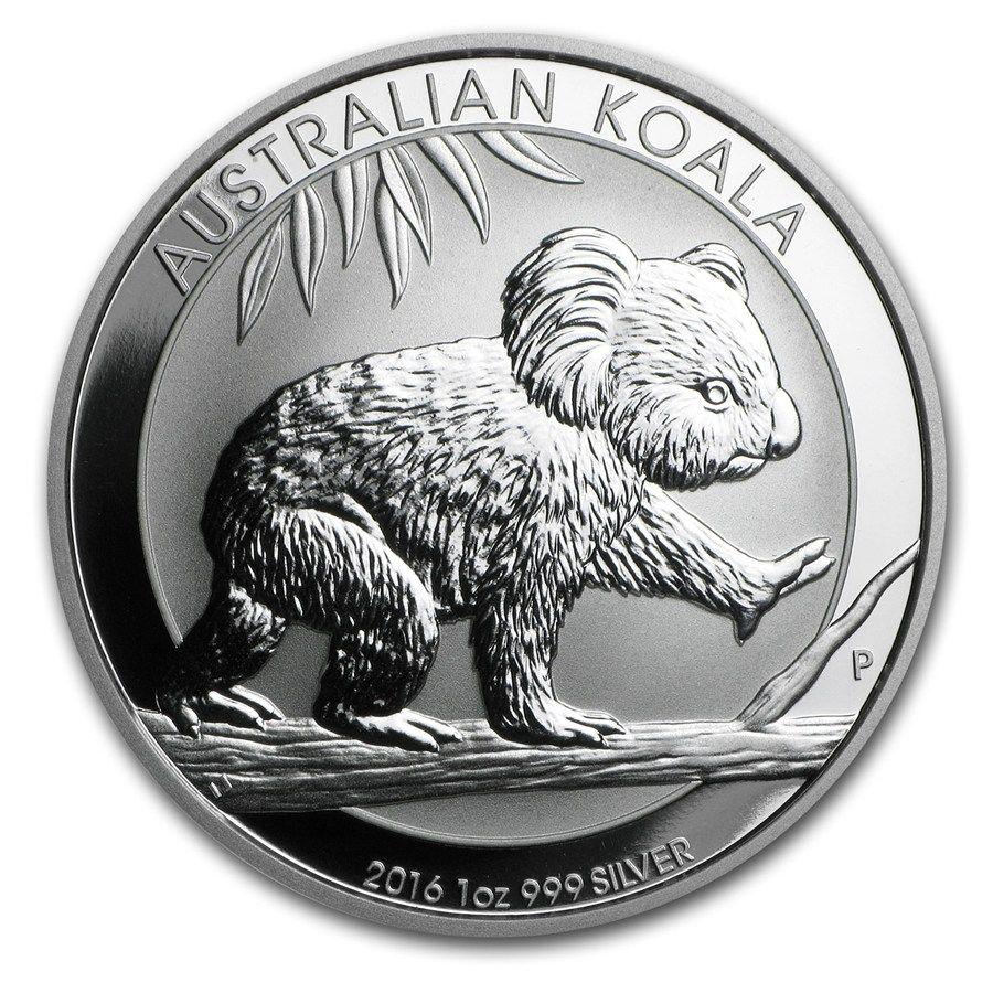 2016 Australia 1 Oz Silver Koala Bu 2016 Perth Mint Koala Coins 1 Oz Size Apmex Silver Coins Coins Bullion Coins