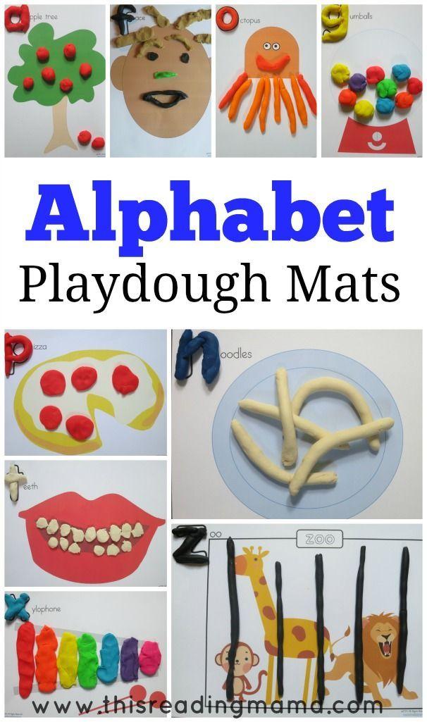 Alphabet Playdough Mats (FREE Printable Mats) Kindergarten Reading