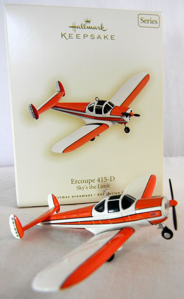 Hallmark Ercoupe 415-D Sky/'s the limit Christmas Ornament Handcrafted