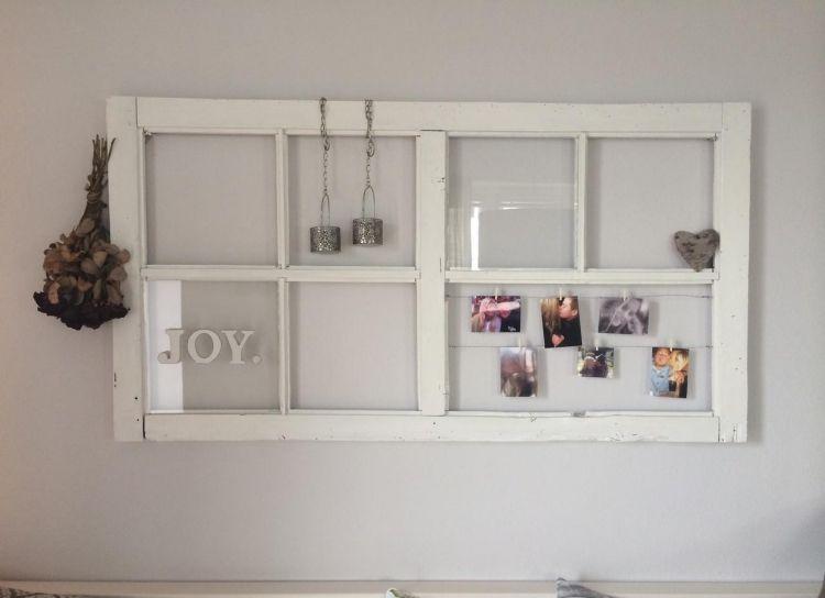 Wanddeko Holz Selber Machen Altes Fenster Weiss Scheibe Bilder Deko Vintage Vintage Deko Selber Machen Selbstgemachte Wanddekorationen Deko