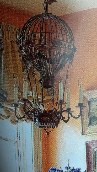 Hot air balloon chandelier gilded interiors pinterest hot air balloon chandelier mozeypictures Images