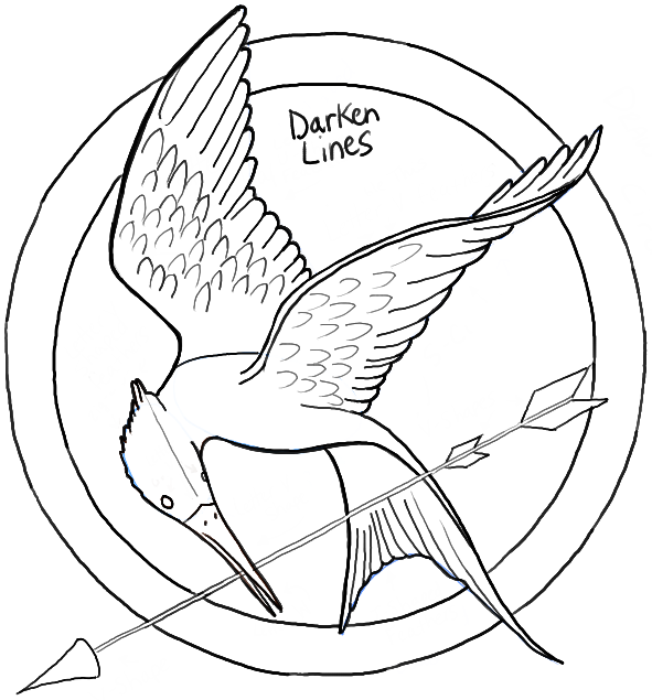 Hunger Games Mockingjay Coloring Page - Bing Images ... |Hunger Games Mockingjay Pin Outline