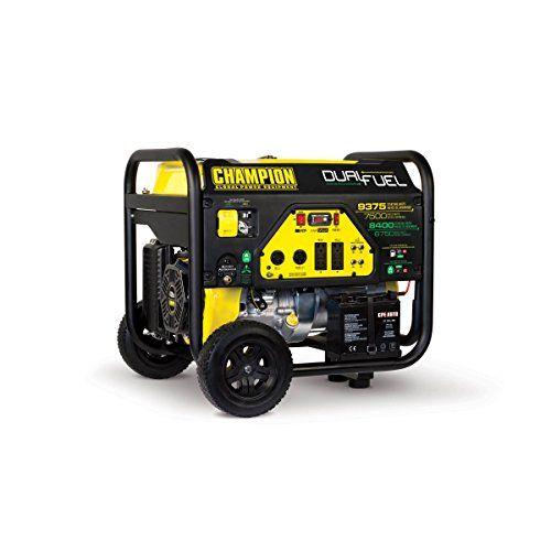 Outdoor Generators Champion Power Equipment 100165 7500 Watt Dual Fuel Portable Generator With Electric Sta Dual Fuel Generator Generation Portable Generator