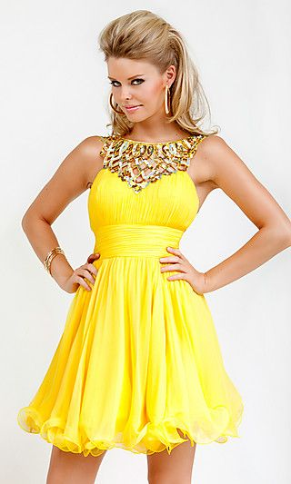 1000  images about Yellow Prom Dresses on Pinterest  Yellow ...