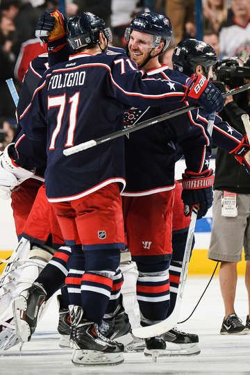 Nick Foligno's game winning goal in overtime. Blue Jackets vs. Penguins - 04/23/2014 - Columbus Blue Jackets - Photos