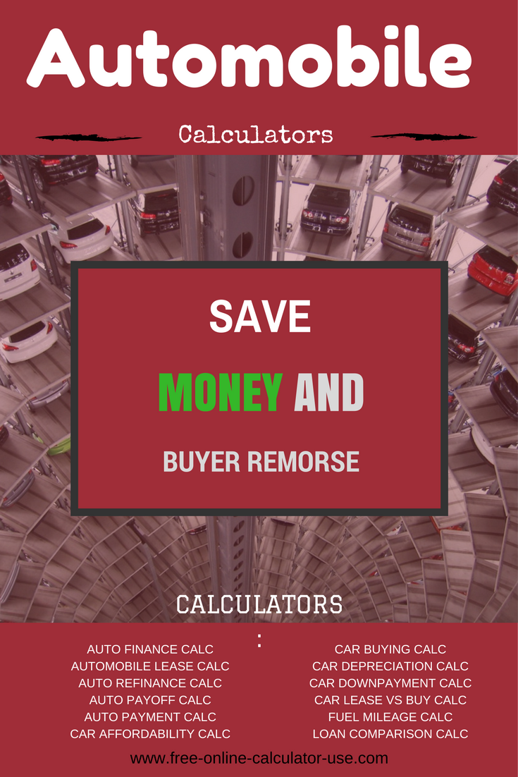 online auto calculators for informed buying and owning decisions