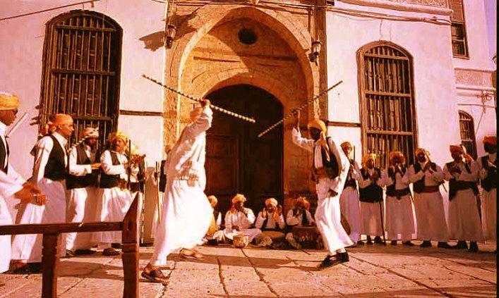 فولكلور المزمار الحجازي The Muzmar Part Of The Hejazi Folklore Middle Eastern Culture Jeddah North Africa
