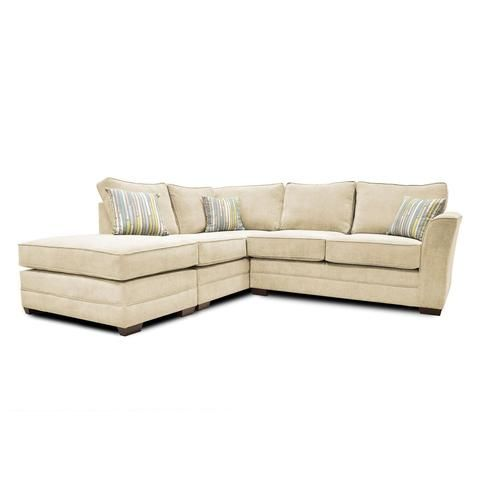 Elodie Soft Chenille Corner Sofa In Cream