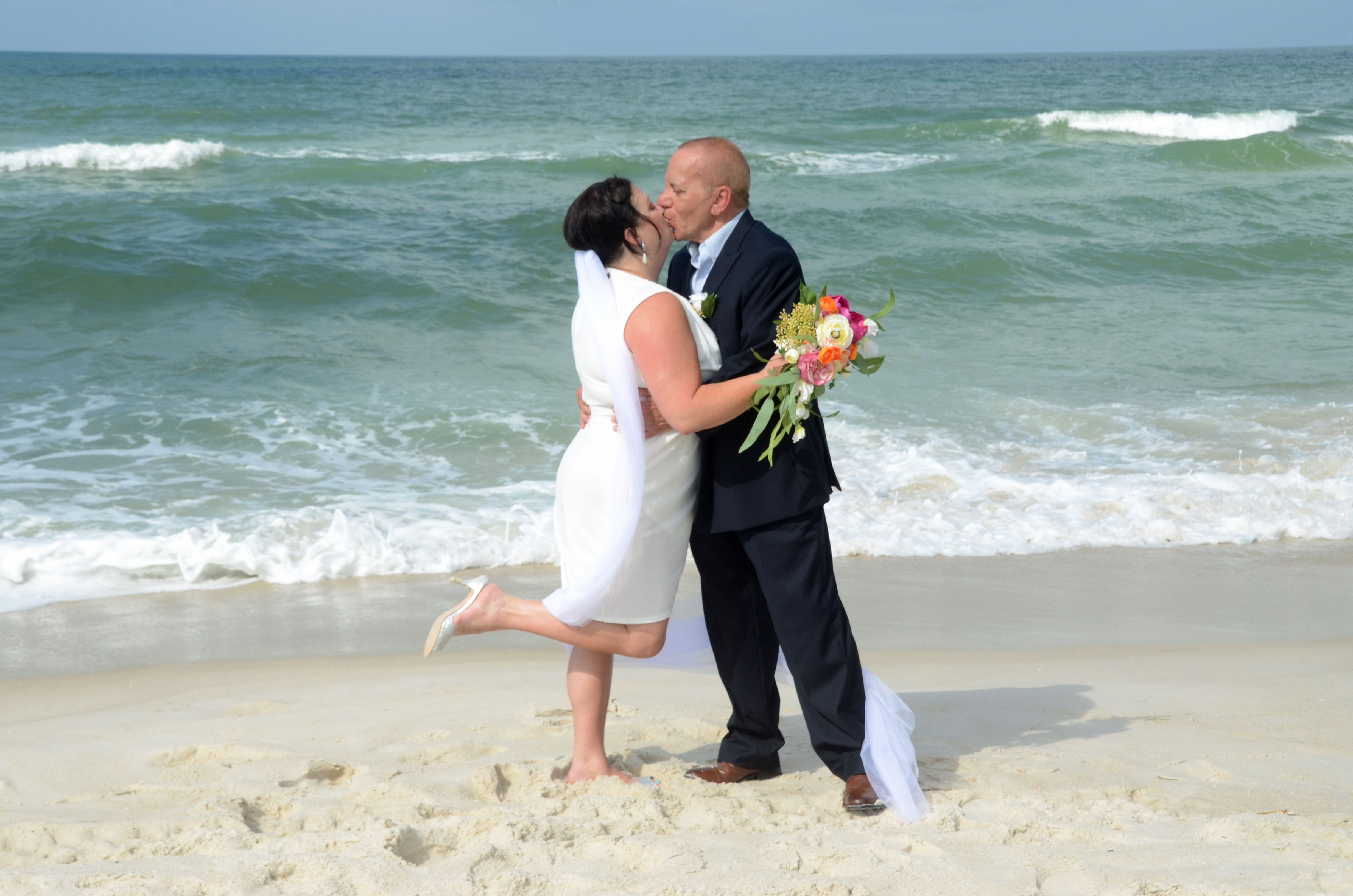 Florida Beach Wedding In 2020 Sunset Beach Weddings Florida Beach Wedding Beach Disney