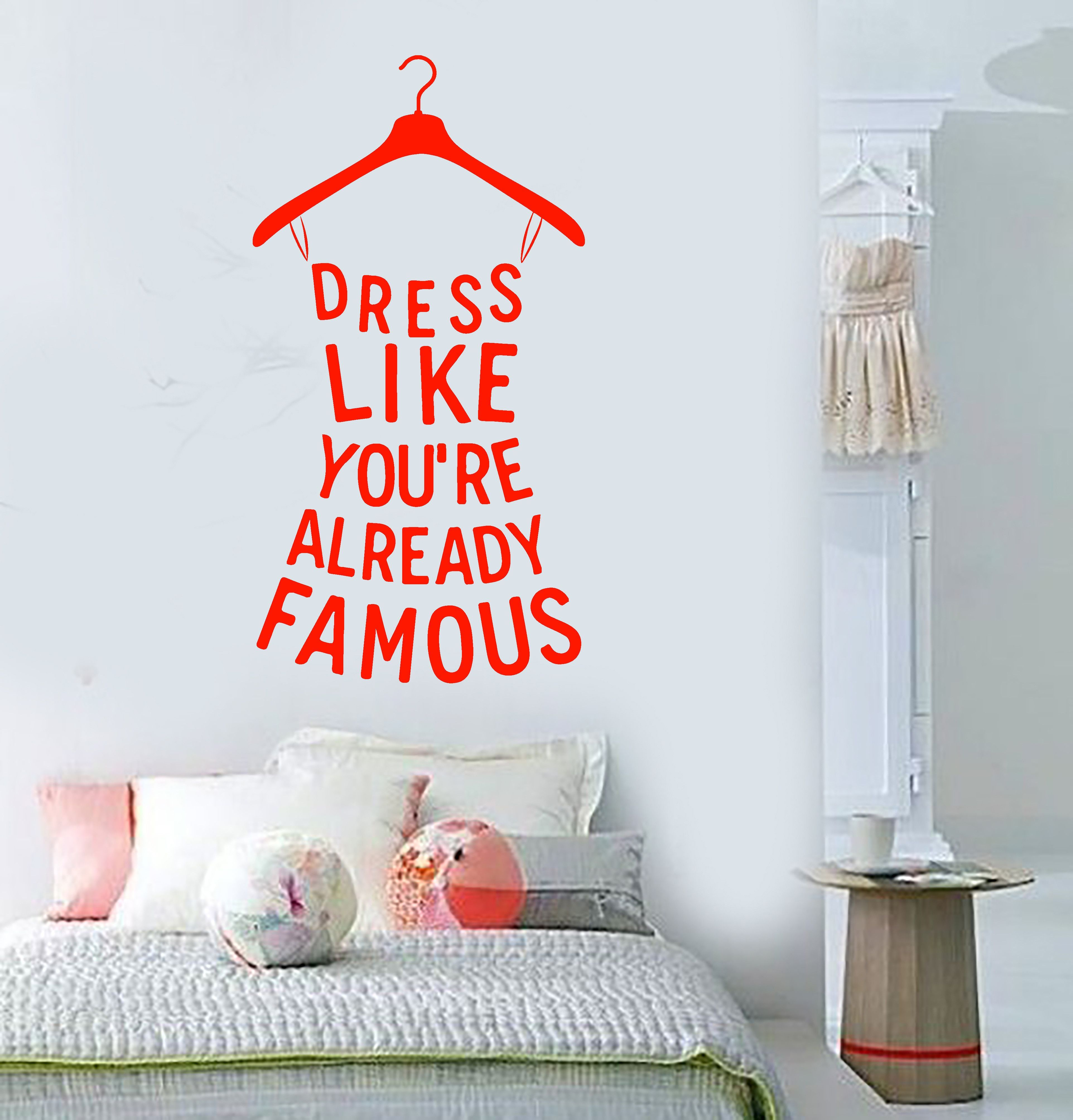 Vinyl Wall Decal Quote Fashion Shopping Words Girl Room Decor