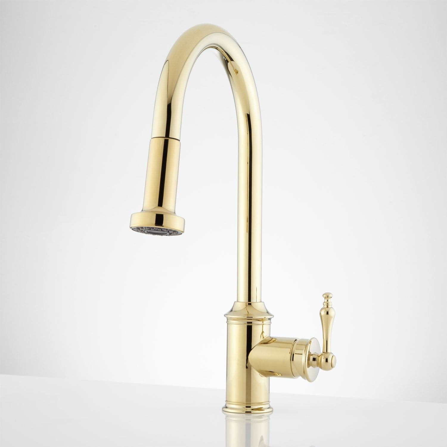 sleek simple it s gold in colour i don t know anyone that bainbridge single hole pull down kitchen faucet with traditional lever kitchen faucets kitchen