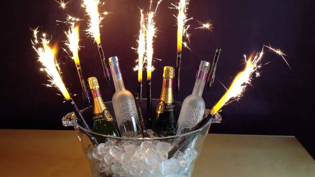 """8 ct Sparklers 6"""" candles Birthday outdoor Bottle Party"""
