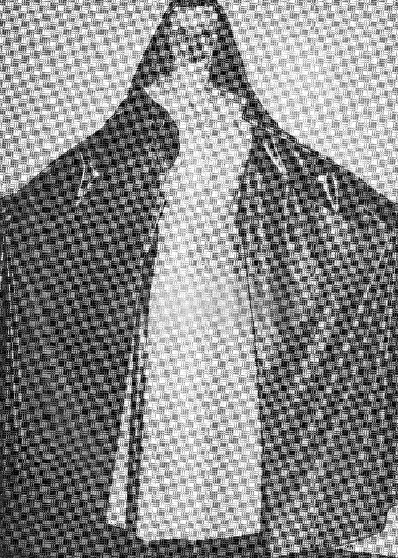 Vintage Latex Nun   Vintage Latex Rubber   Latex hood ...