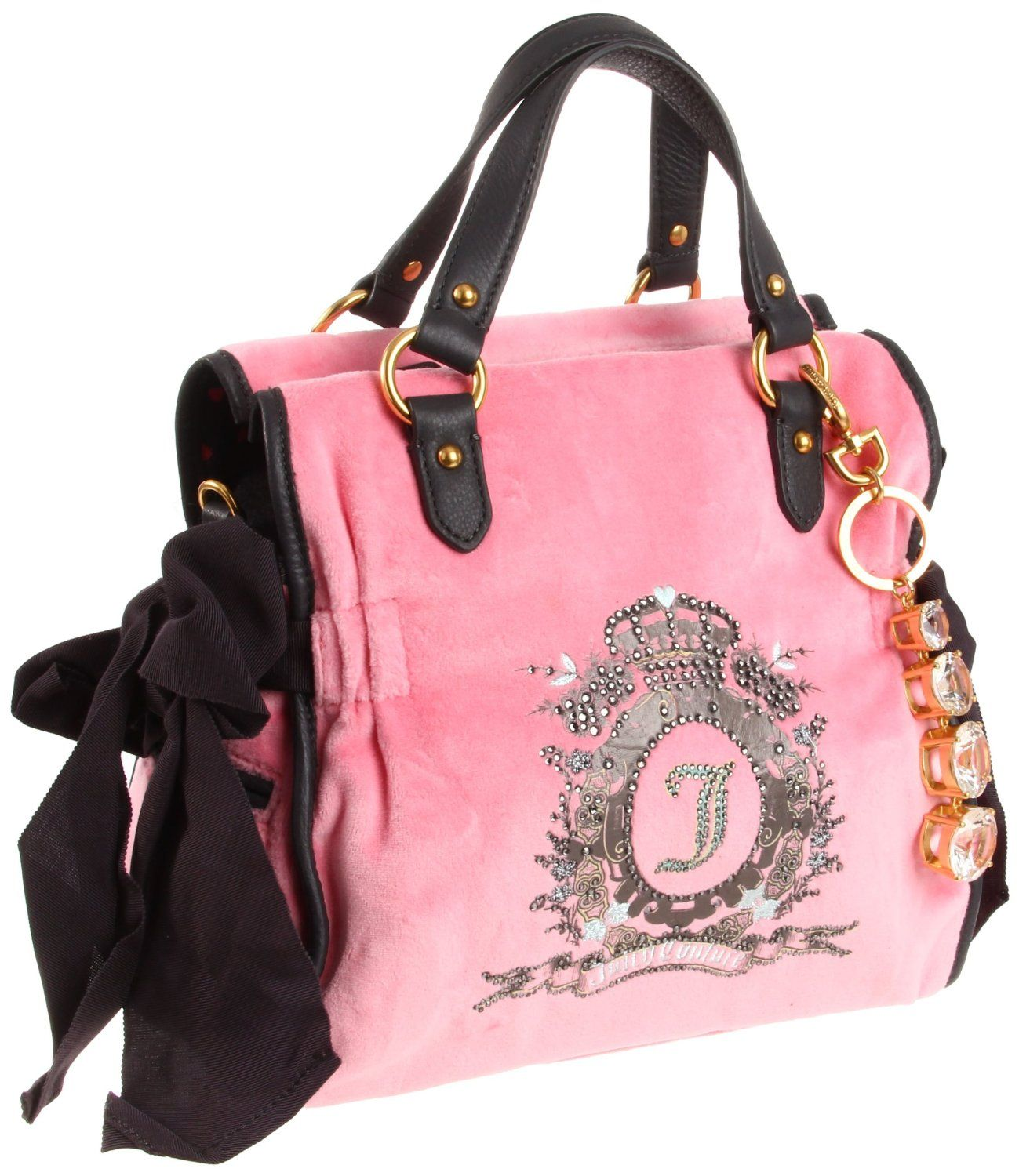 7cf7797e9ece2c Juicy Couture Cameo Velour Bling Charm Miss Daydreamer Bag Pink Candy: Shoes