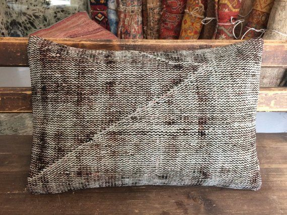 Enjoyable Brown Tan Natural Rug Pillow 16X24 Neutral Kilim Pillow Gmtry Best Dining Table And Chair Ideas Images Gmtryco