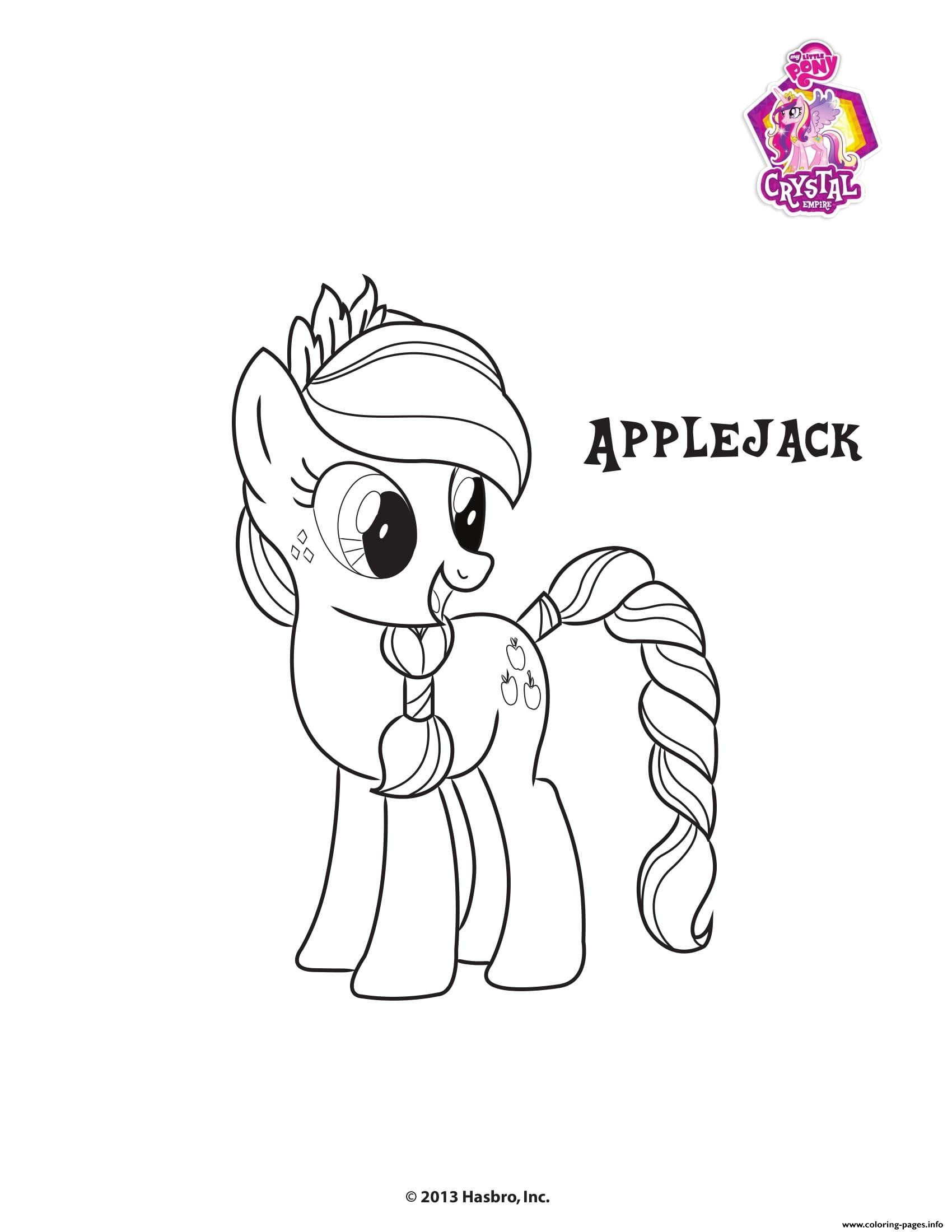 My Little Pony Coloring Sheets Applejack Crystal Empire My Little Pony Coloring Pa In 2020 My Little Pony Coloring Monster Truck Coloring Pages Detailed Coloring Pages