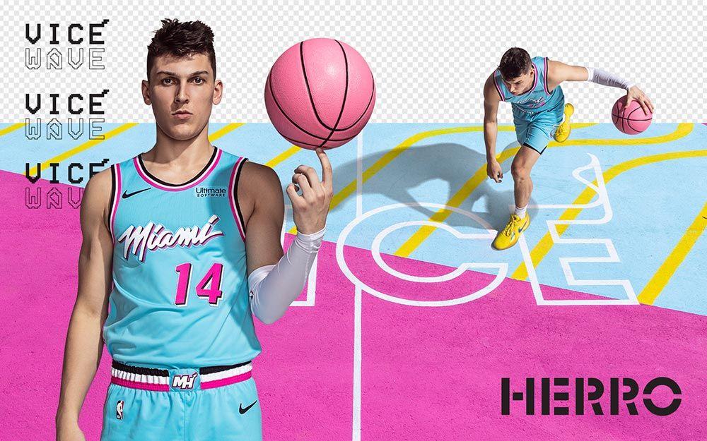 Vice Wave Herro Miami Heat Heat Uk Basketball