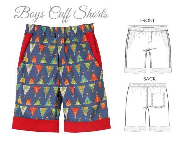 8a5649e26e Boys SHORTS pattern pdf, boys pattern, girls shorts pattern, boys sewing  pattern pdf, cargo shorts p