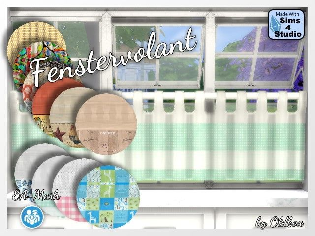 Window valances by Oldbox at All 4 Sims • Sims 4 Updates