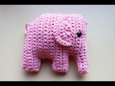How To Crochet An Elephant Application Applique Youtube Lilia