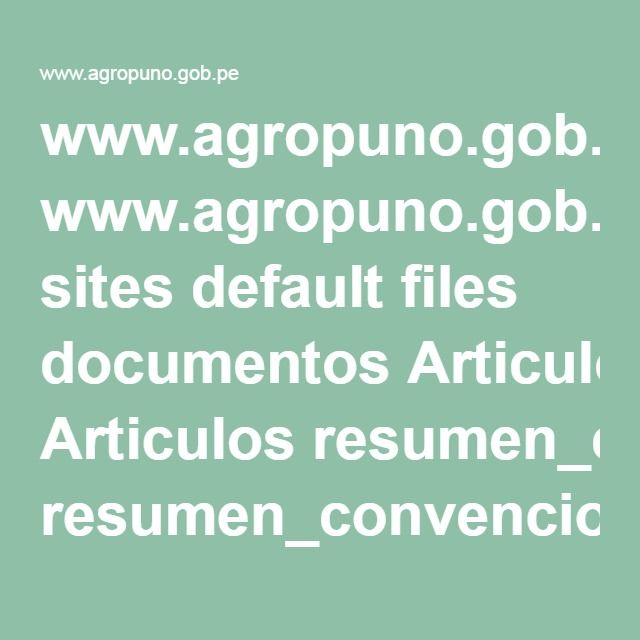 Www Agropuno Gob Pe Sites Default Files Documentos Articulos Resumen Convencion Quinua Pdf Resumen Articulos Fila