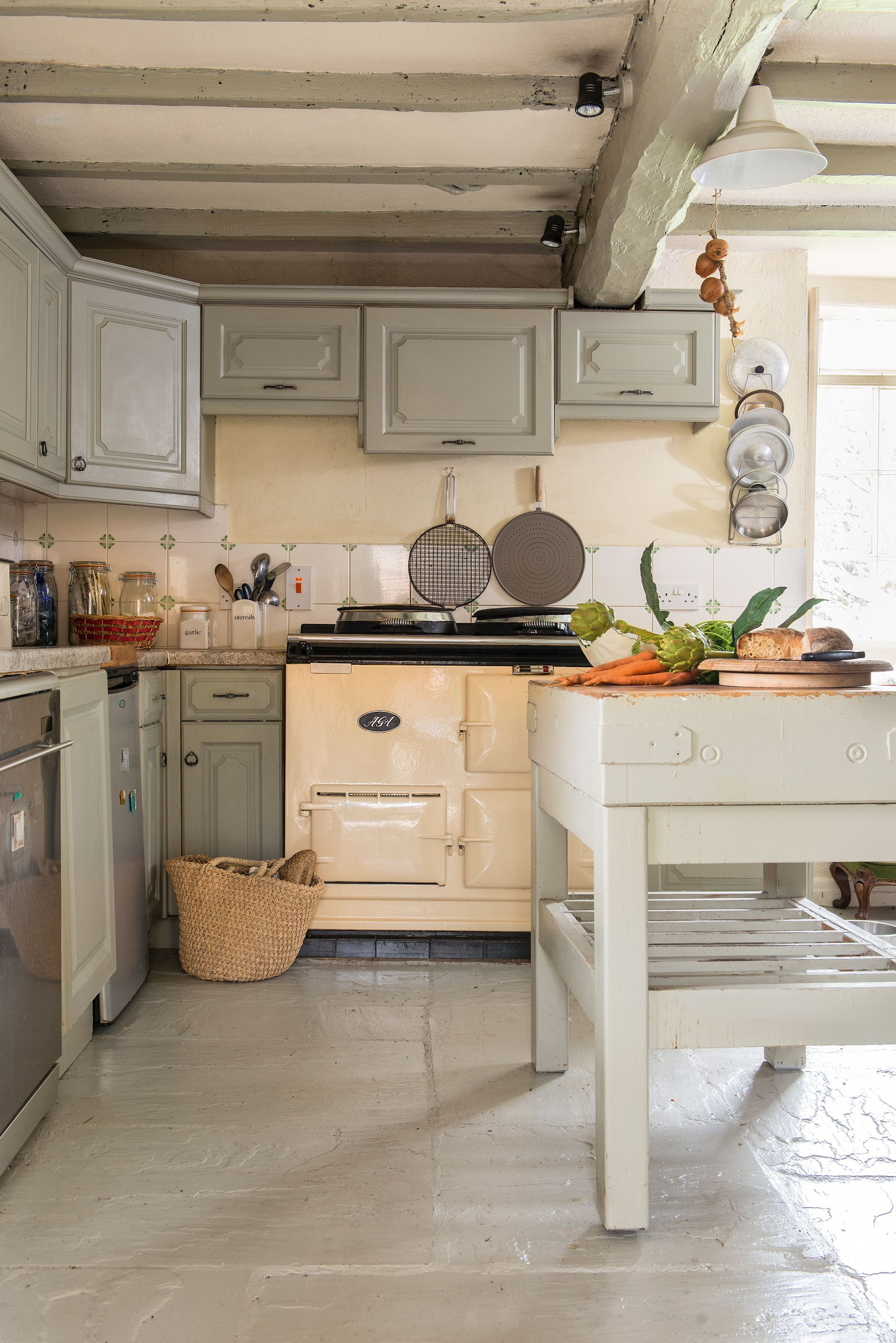 Love a nose around a period home  - Freestanding kitchen, Kitchen design small, Cottage kitchens, Kitchen design, Kitchen design open, Industrial style kitchen - Don't miss this former mill keeper's cottage
