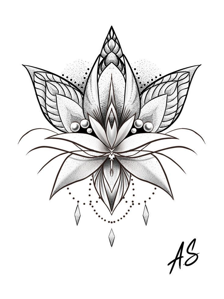 Photo of Mandala Dotwork Lotus Artwork by Adison #Tattoos #Tattoosquotes #flowerTattoos #…