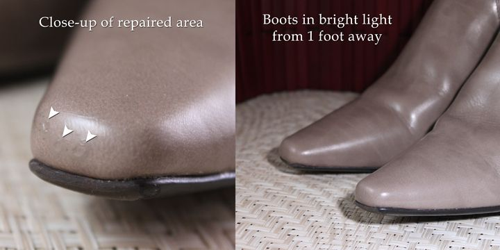 How To Repair A Scrape On Faux Leather Shoes Shoe Repair Diy Leather Shoe Repair Boots Diy