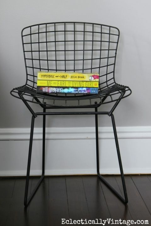 Childs Bertoia chair eclecticallyvintage.com
