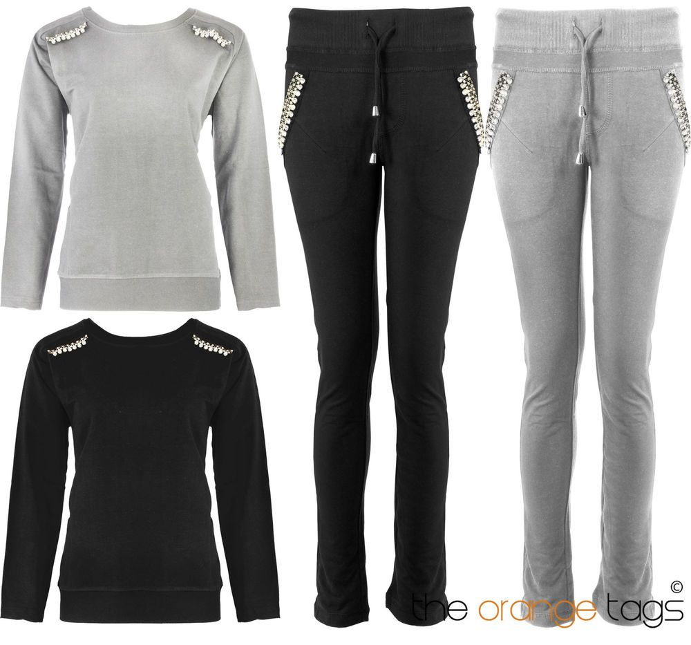 f20f7b042afa8b48cafdc8aacdd7deb4 details about ladies diamante tracksuit womens jogging bottoms,Ebay Womens Clothing Size 8