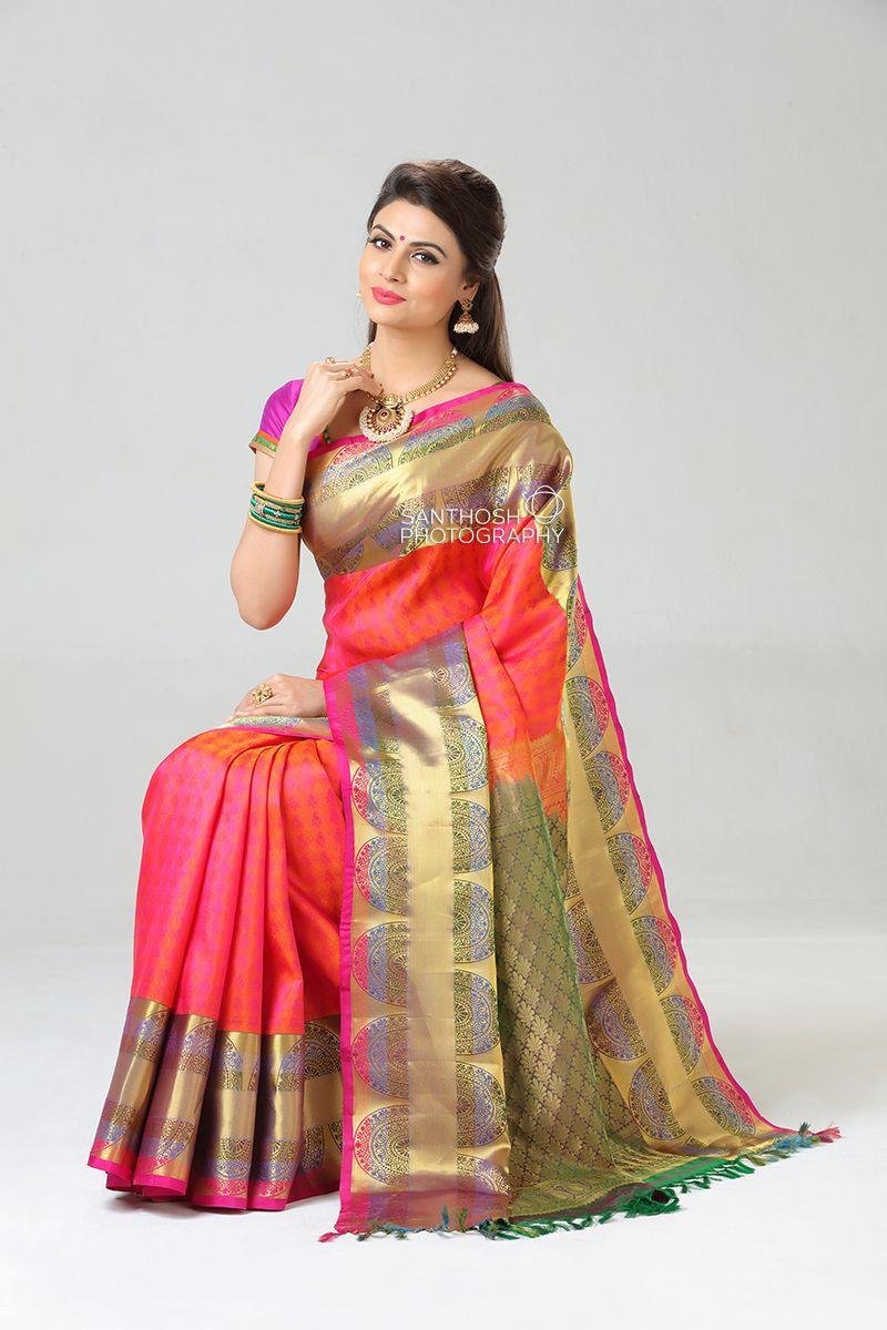 daa18ecf92 Silk Saree Photoshoot. #silk #saree #kanchipuram #weddingsarees #wedding # pattu #jewellery #indian #female #model #latest