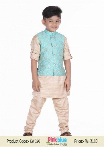 Designer Indian Ethnic Wear for Kids | Wedding Kurta Pajamas for ...