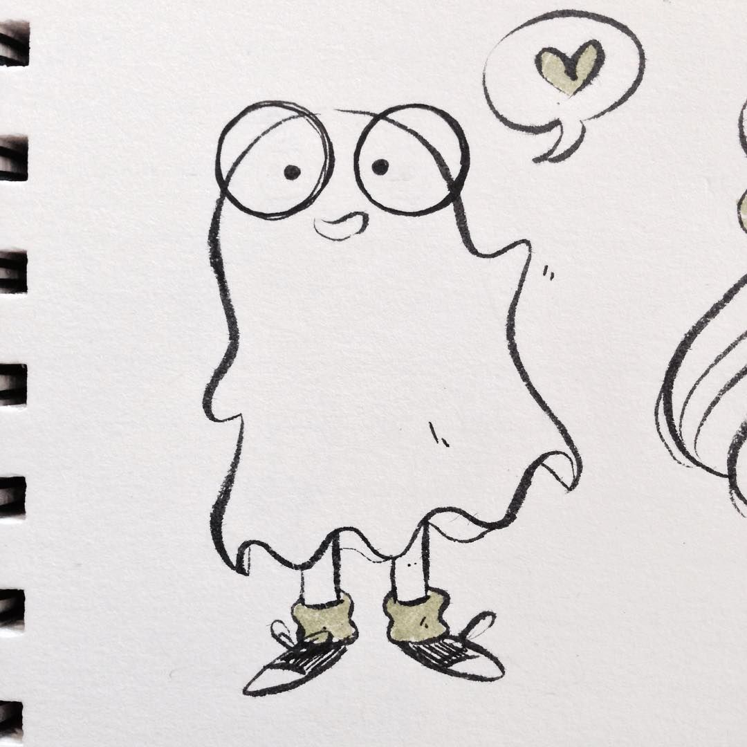 simple ghost drawing. starting #inktober with a very simple and friendly ghost costume. #illustration #illustrator drawing -