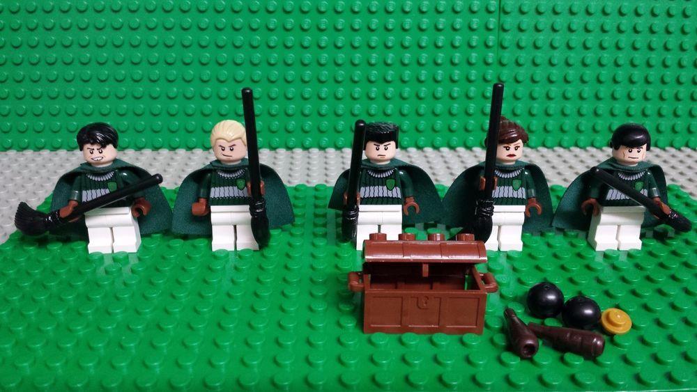 Lego Harry Potter 4737 Quidditch Match Slytherin Minifigures Genuine Lego Lego Harry Potter Slytherin Lego News