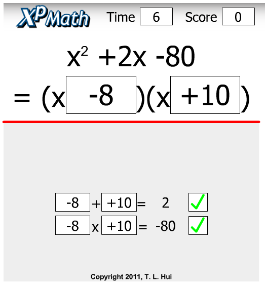 Online Game For Factoring Trinomials Gaming Learning Games Fun Explore Mathnook Com Teaching Math Math Expressions Polynomials Activity