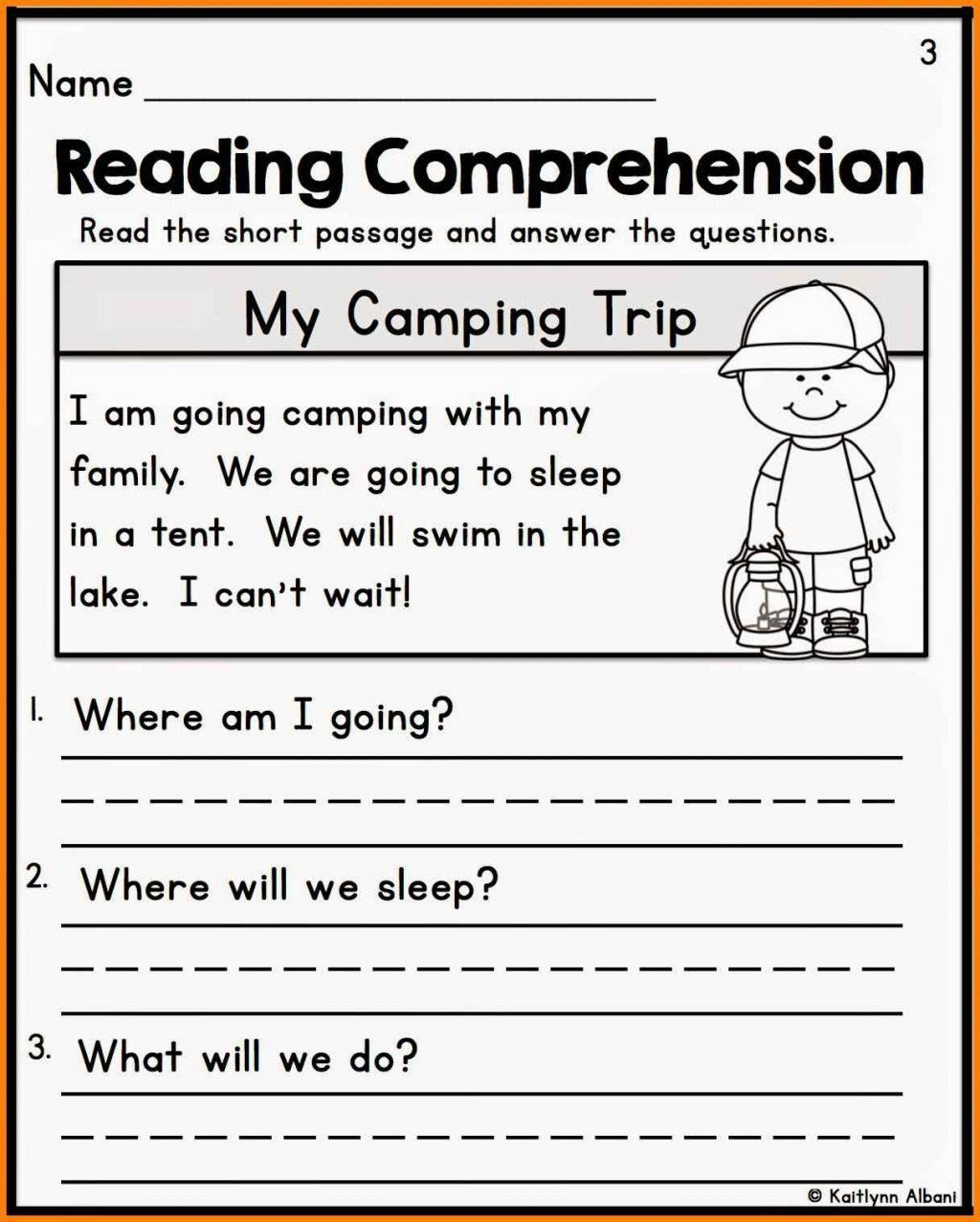 First Grade Reading Comprehension Activities Math ...